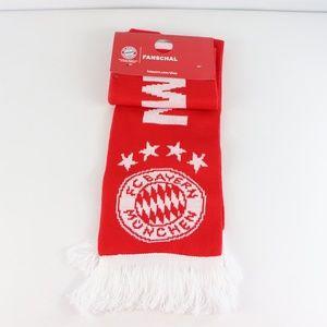New Bayern Munich FC Football Fan Scarf Red White